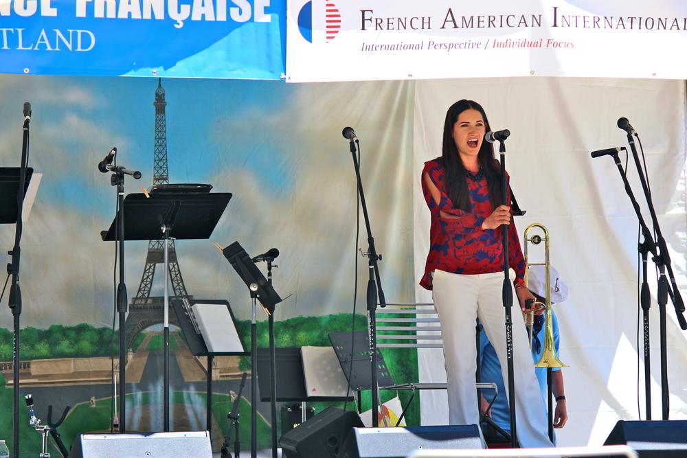Whitney Martin singing  La Marseillaise