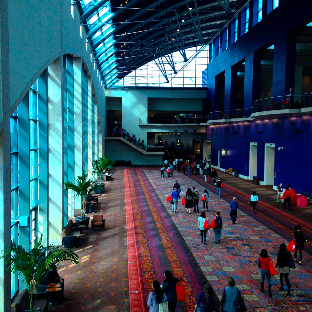 ACTFL14 conference attendees at Gonzalez Convention Center, San Antonio, TX