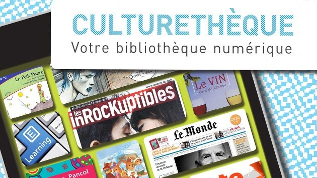 Image of Culturethèque French online library via institutfrancais.com