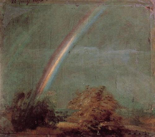 Landscape with a Double Rainbow by John Constable, 1812