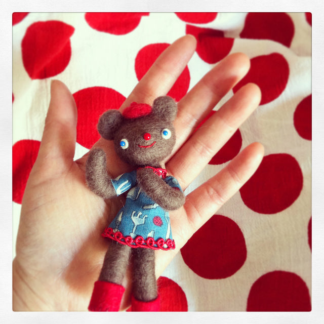 little bear puppet by  hine