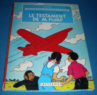 Vintage comic book by Hergé  currently listed  by  Marygoldbooks  on eBay