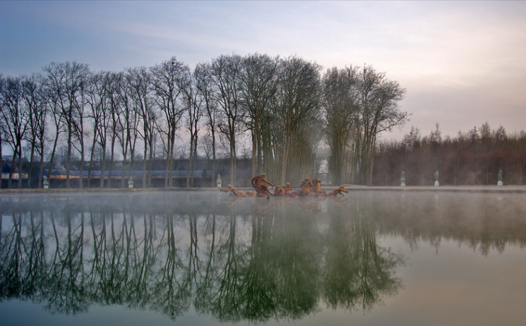 Versailles in Winter by  Hugues Nouvel de la Fleche