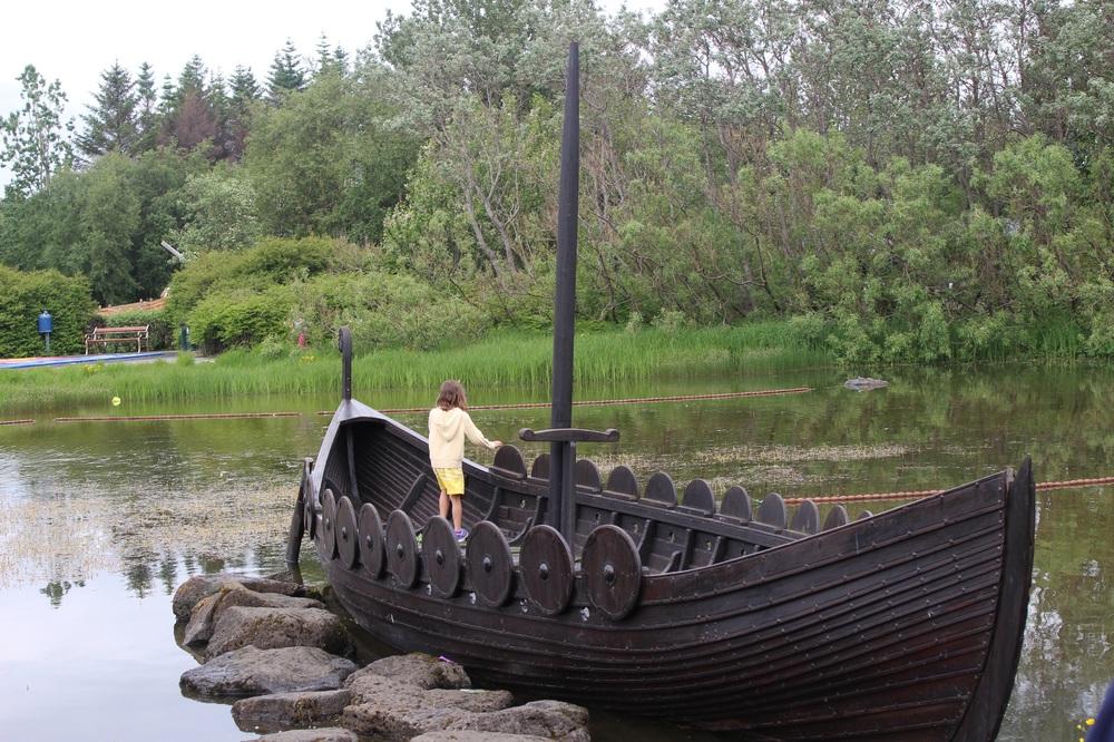 A playful viking ship at Laugardalur