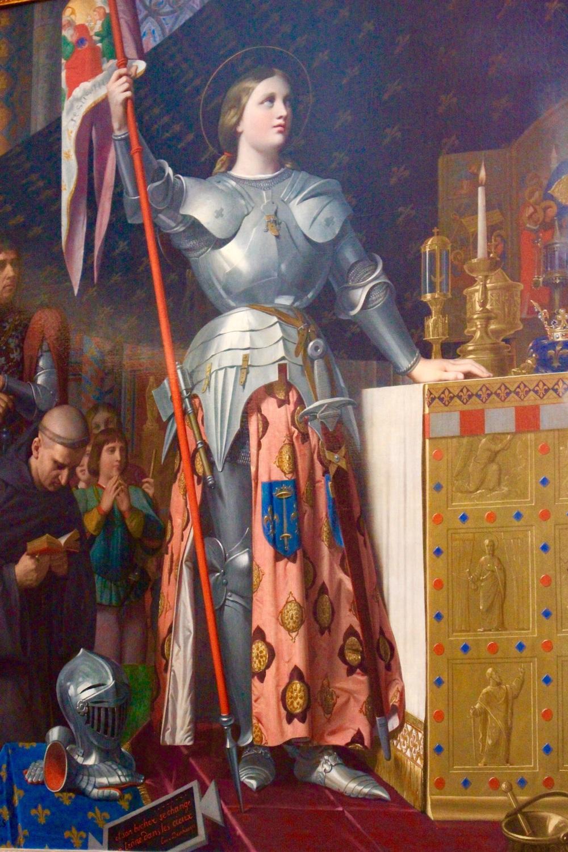 Jeanne d'Arc au sacre du roi Charles VII  , par Jean Auguste Dominique INGRES, 1854, musée du Louvre, Paris.