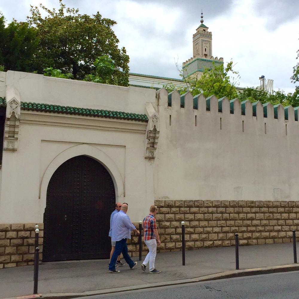 Outside the grand Mosquée de Paris across from the Jardin des Plantes