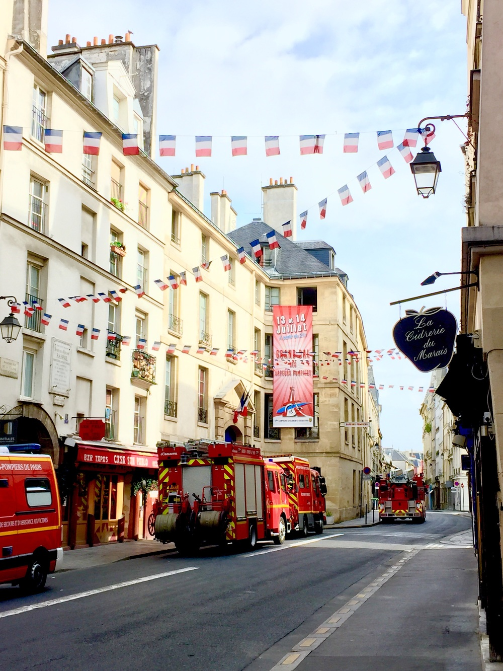 Le Marais ready for this year's  bal des pompiers