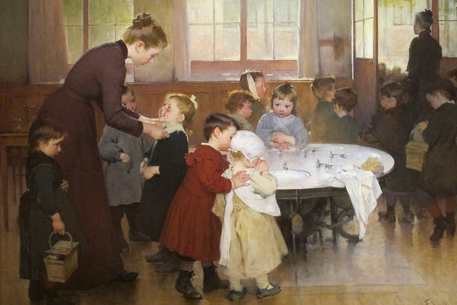 Ecole Maternelle by Yvette Gauthier, 1898
