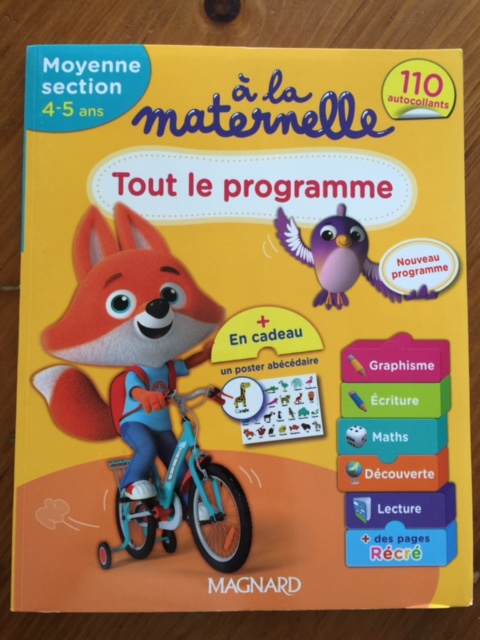 French preschool workbook 4-5 years old homeschooling