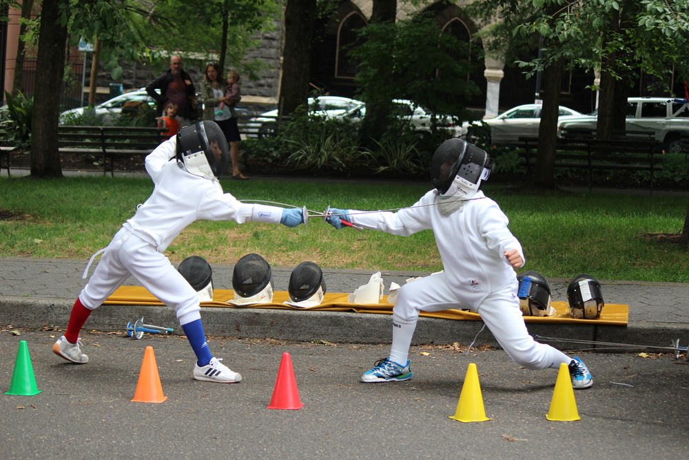 Northwest Fencing Center students demonstrating their skills