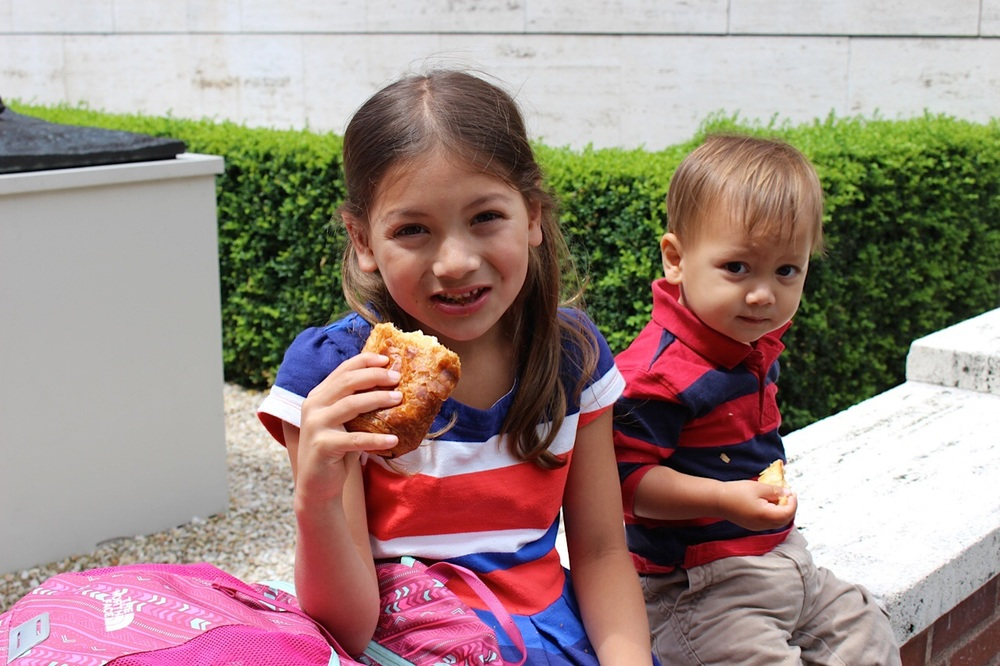 Bastille Day children eating patisseries