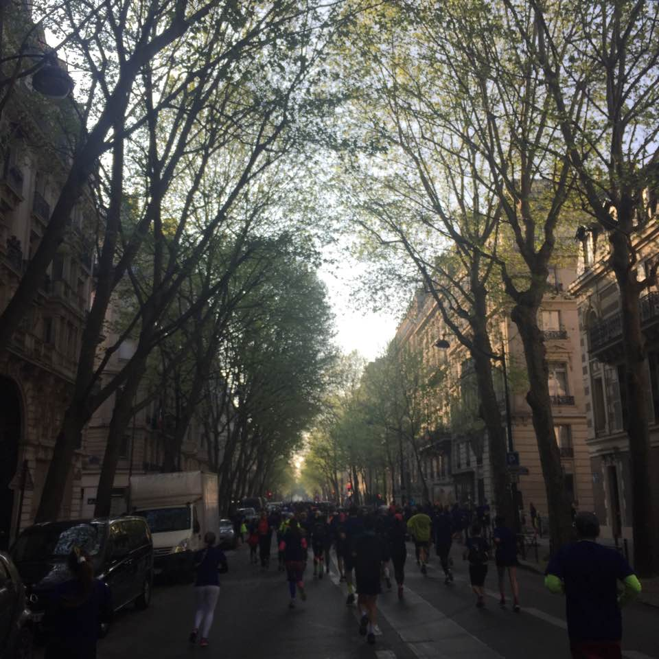 The Paris Breakfast Run, a 5K fun run held the day before the marathon