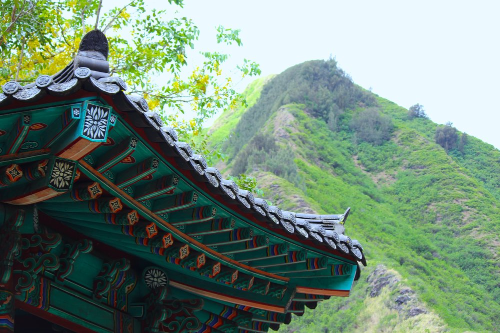 The Korean Pagoda and Iao Valley Needle, Maui