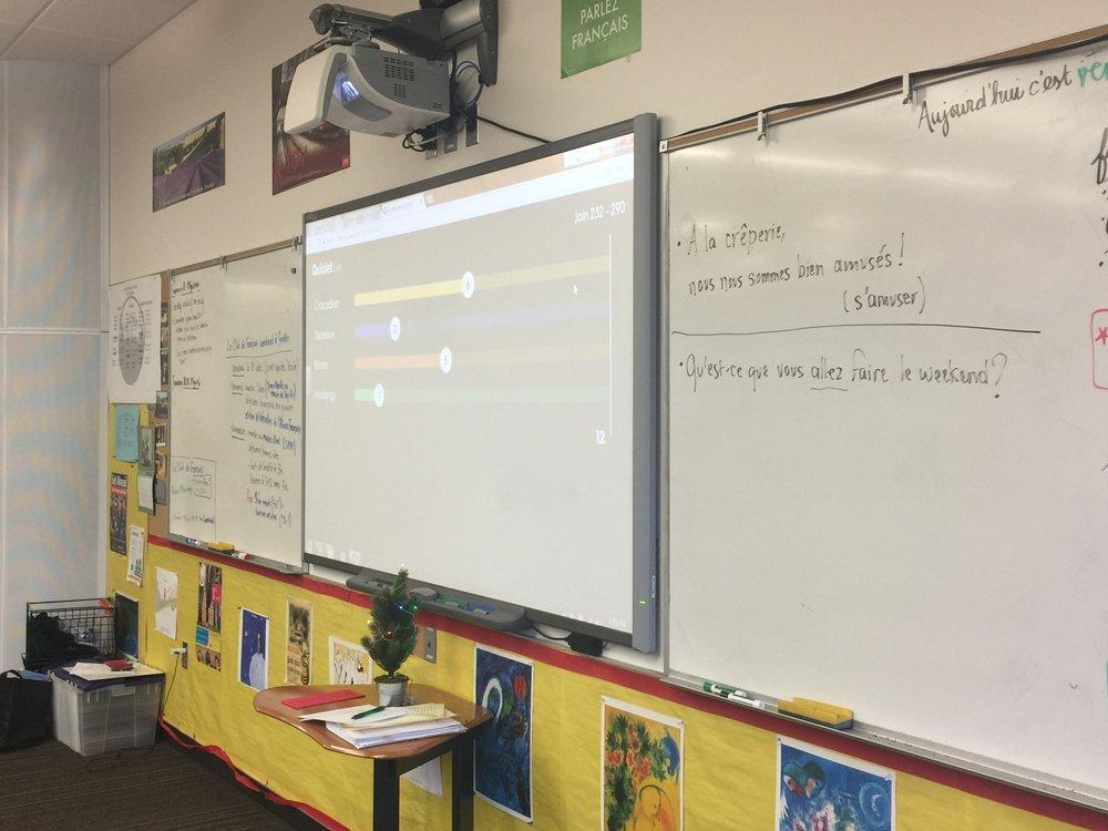 My classroom  / Ma salle de classe