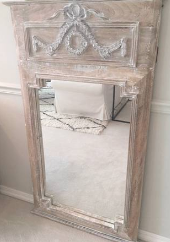 french mirror whitewash