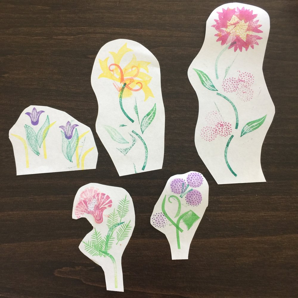 PAPress garden stamp art set gift mama artist family