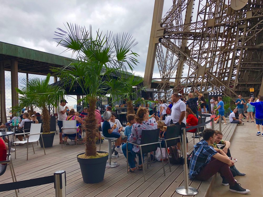 First floor café terrace, Eiffel Tower
