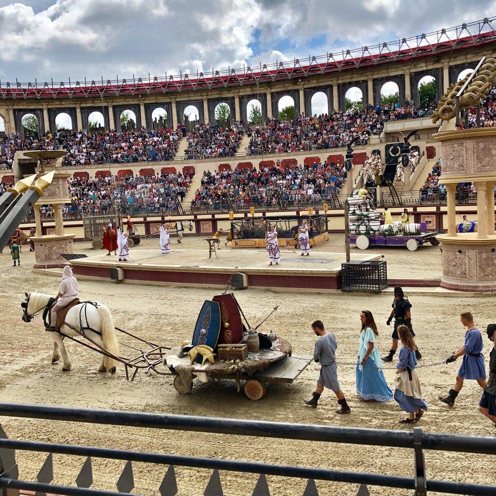 best history theme park gladiator roman show family