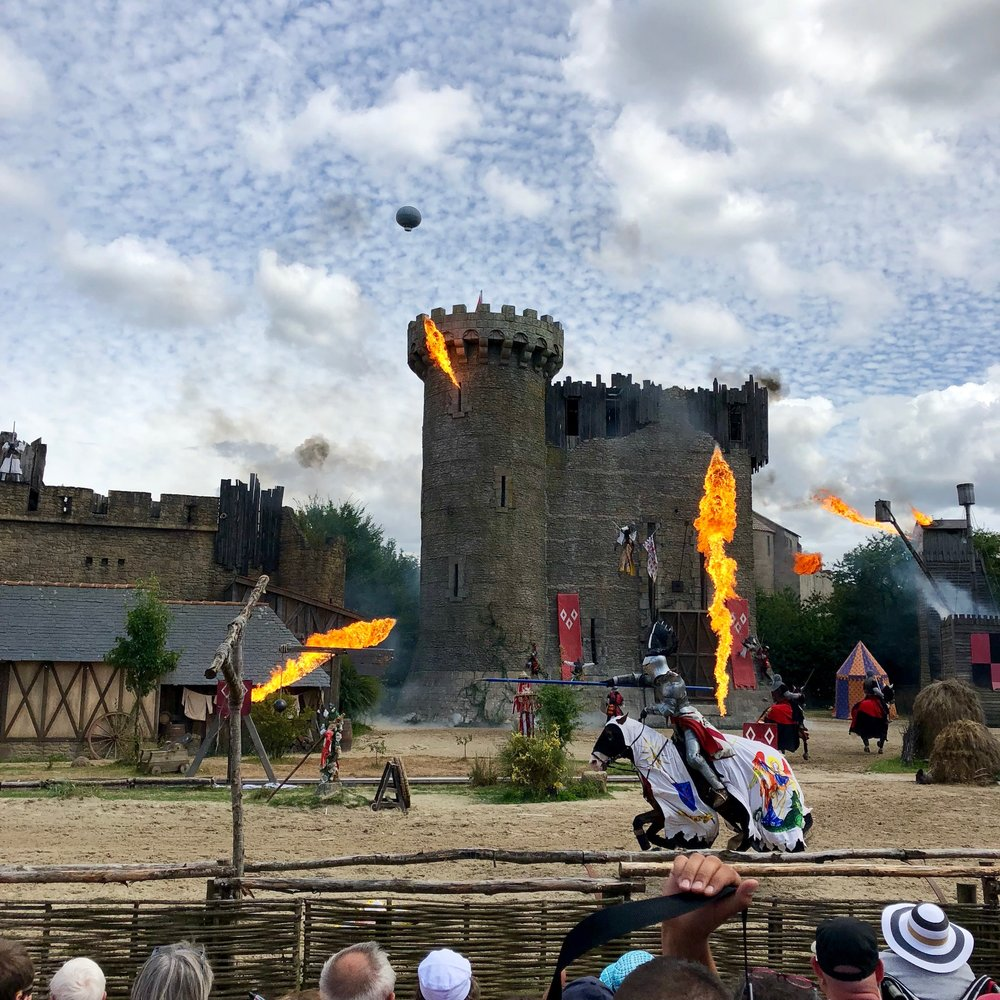 A heated scene from The Secret of the Lance at Puy du Fou