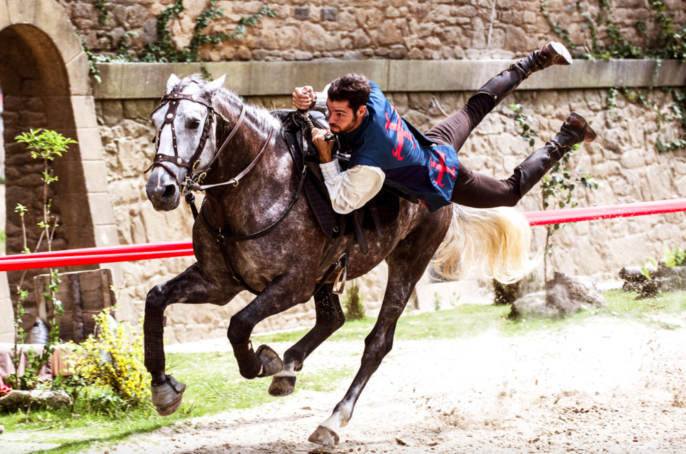 A fast-paced stunt from Secret of the Lance at Puy du Fou (photo courtesy Puy du Fou)