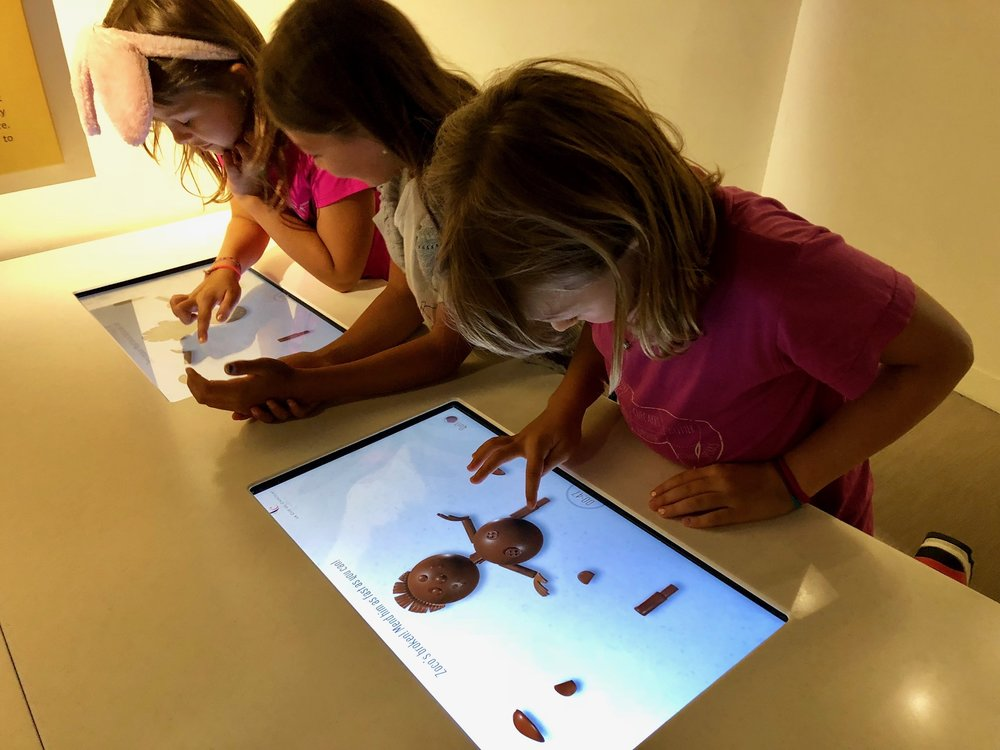 Virtual drawing and sculpting with chocolate