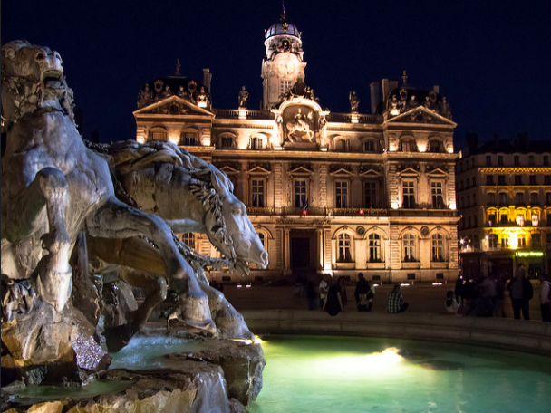 Place des Terreaux and Bartholdi Fountain by Anthony Vollanth