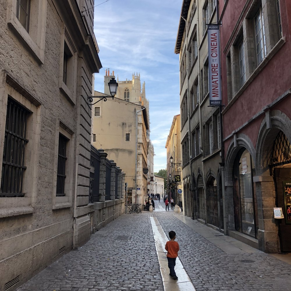 Walking the cobbled streets of Vieux Lyon, the Renaissance neighborhood