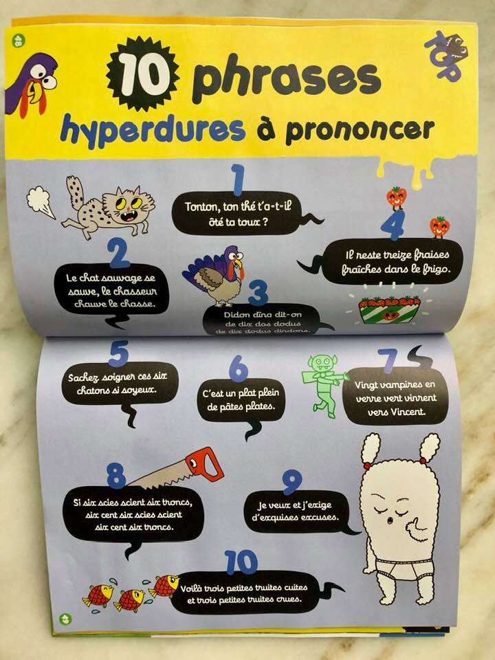 French tongue twisters in    MoredeLIRE