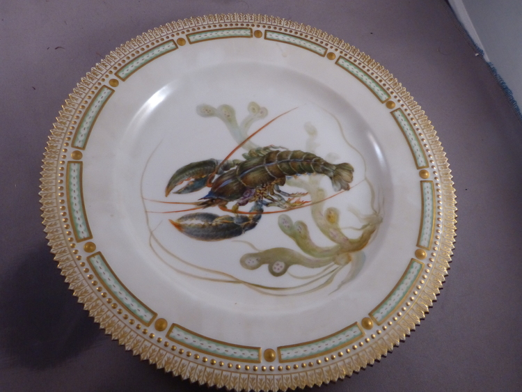 Royal Copenhagen Flora Danica Lobster Plate