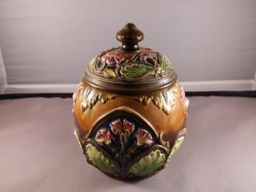 Majolica Tobacco Jar