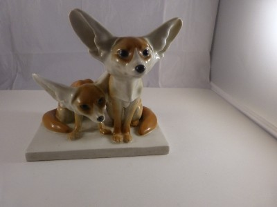 Meissen Porcelain Foxes