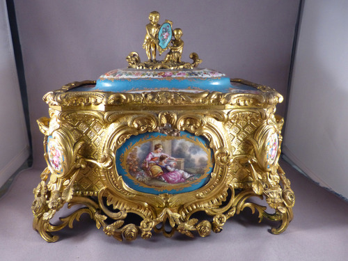 Sevres Gilt Bronze Box