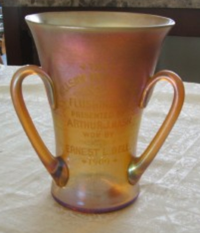 3 Handled Tiffany Favrile LCT Vase