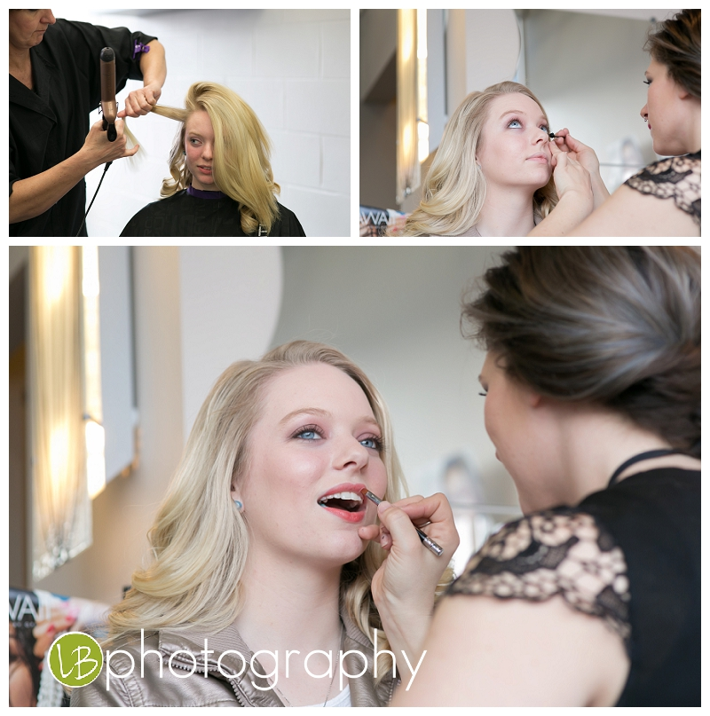 Here she is getting all dolled up for her model session.  Casa de Bella Salon in Howell did an awesome job.