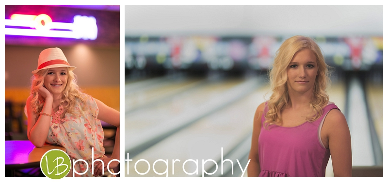 We, of course, had to do some images at the bowling alley!  Loved the great colors it provided