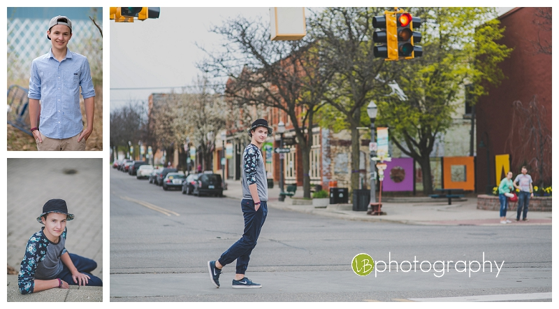 "We made the trip to Lansing's ""Old Town"" for his model session."