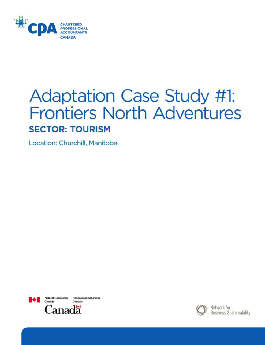 Title:  Climate Change Adaptation: Frontiers North Adventures  Author:  Sakis Kotsantonis  Date:  June 2015