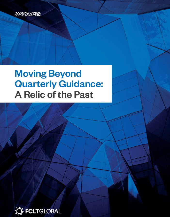 Moving Beyond Quarterly Guidance