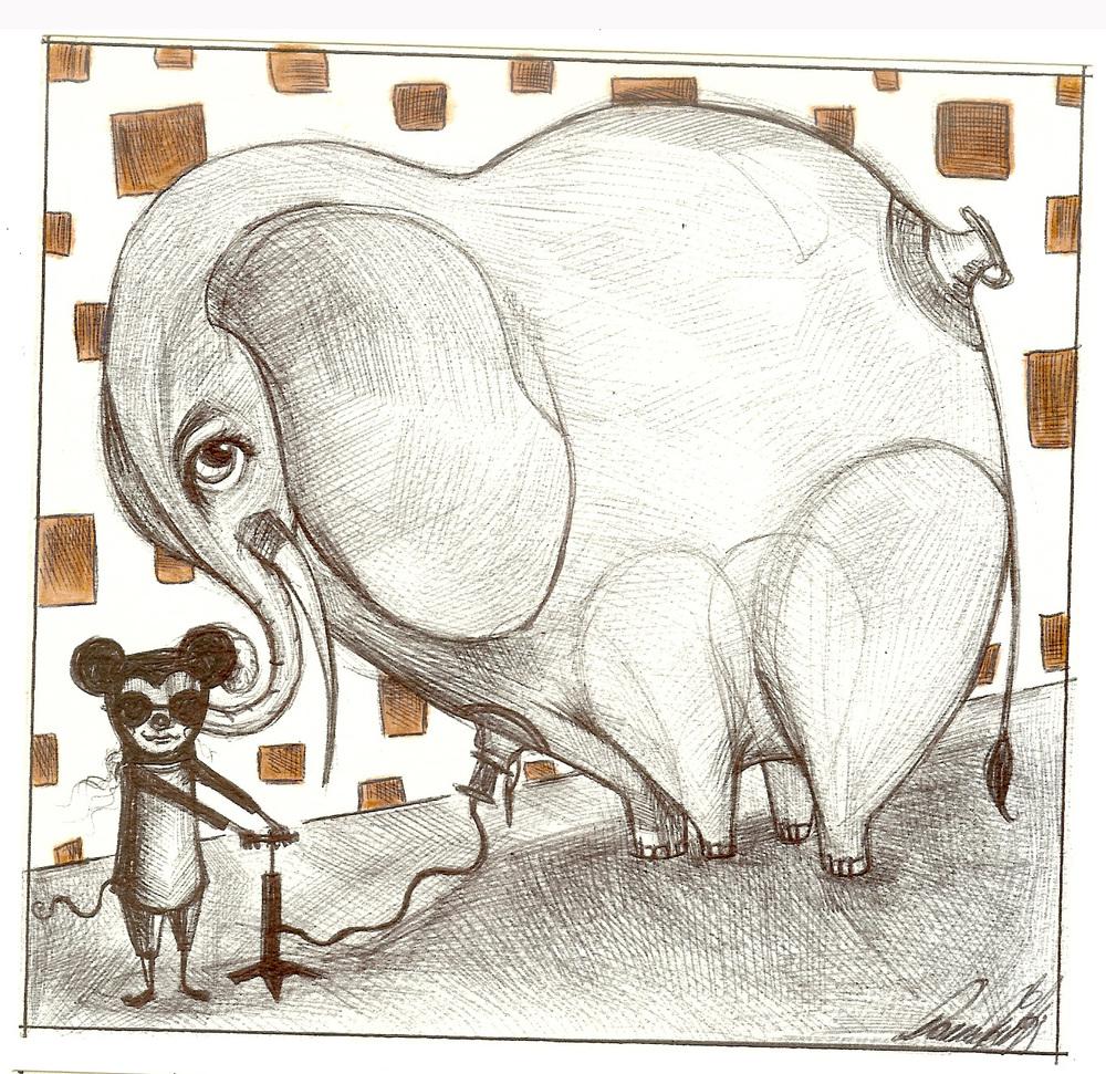 Elefante gonfiato