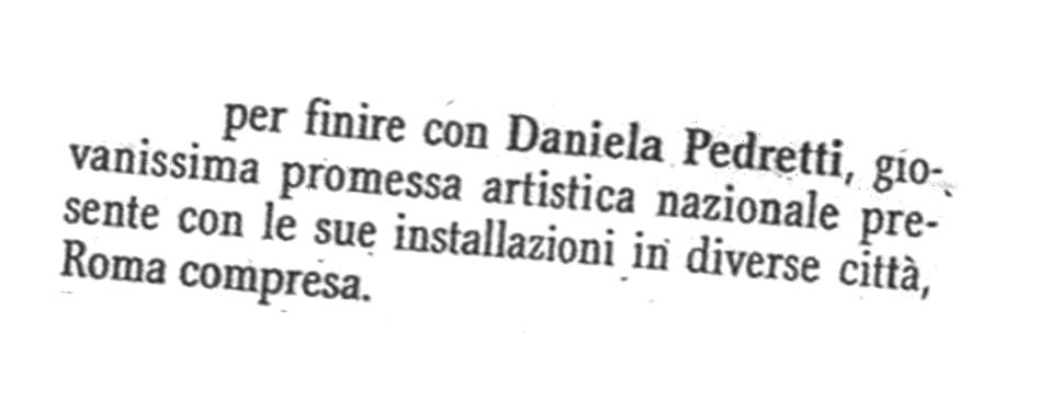 Ritaglio da  La Provincia  in occasione della mostra  Omaggio a Piero Manzoni tenutasi a Soncino (CR) nel 2003.