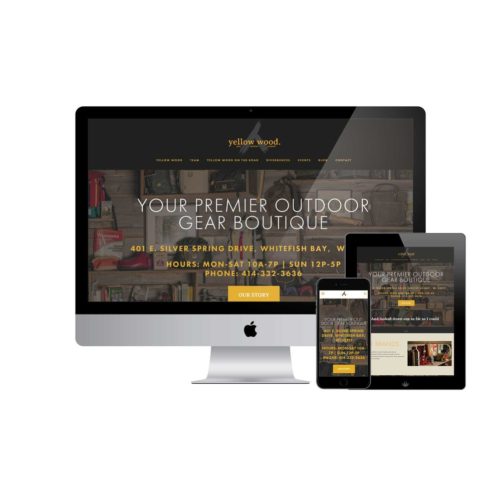Yellow Wood Website Design