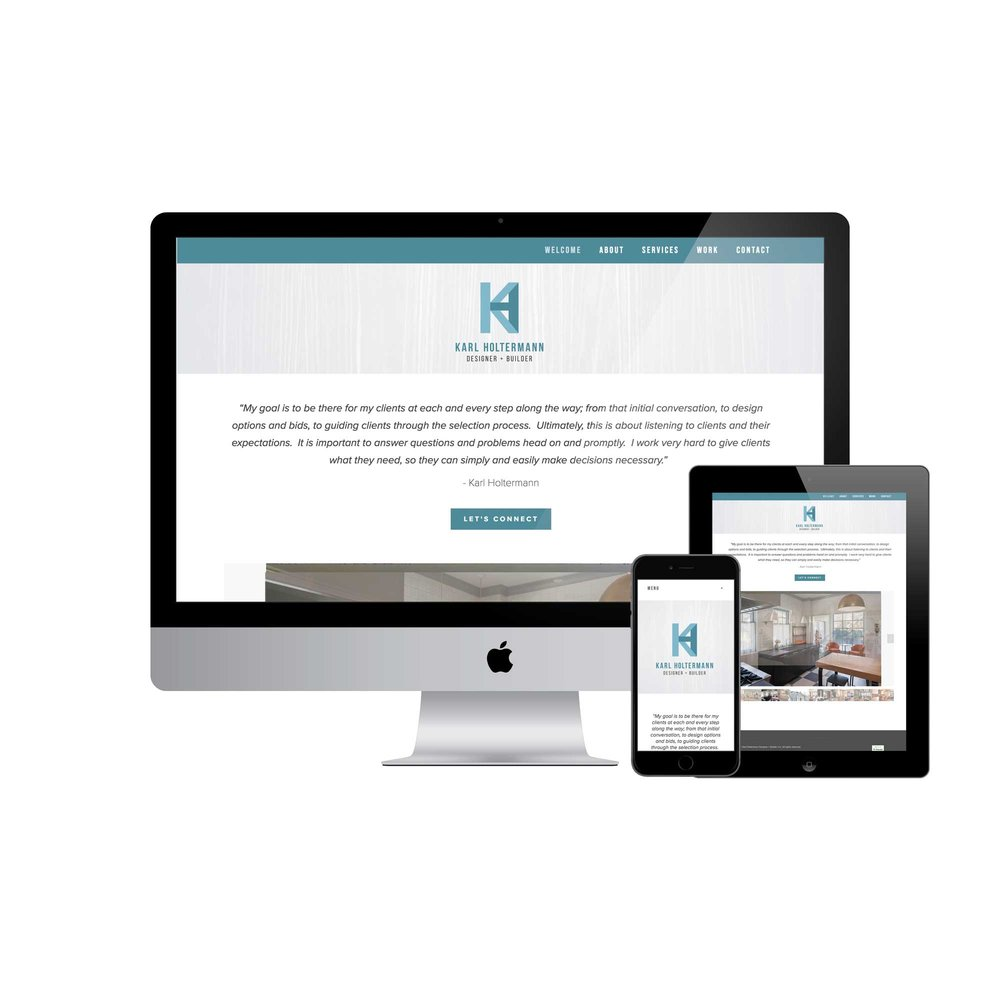 Karl Holtermann Design + Build Website Design