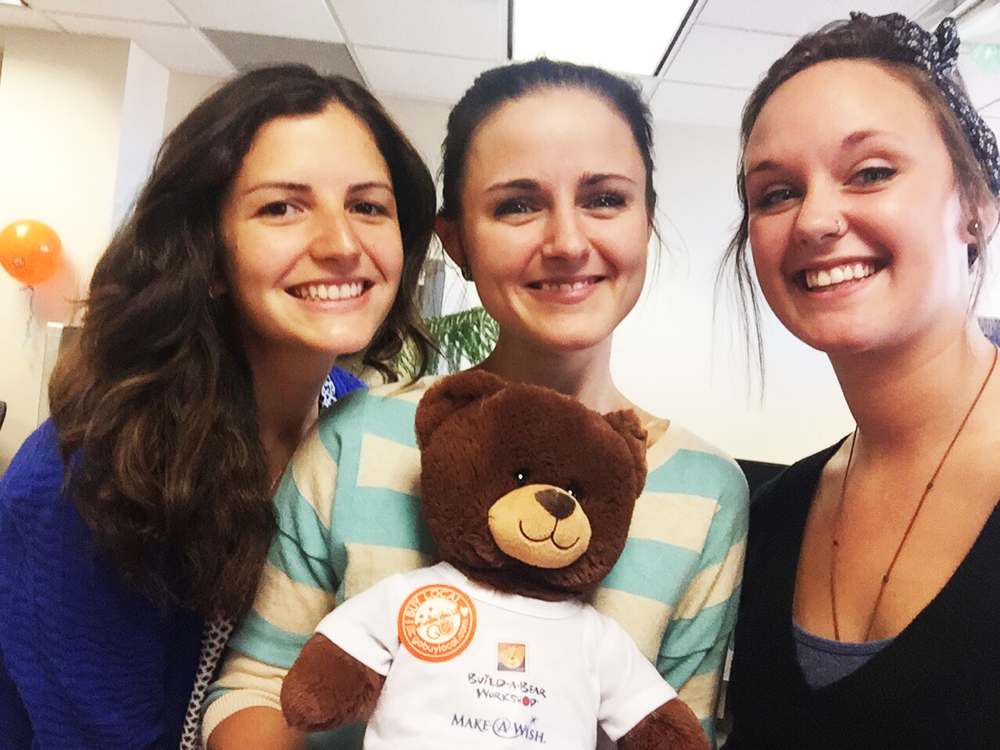 """""""Grant"""" The Wishing Bear meets Monica, Ashley, and Gina at Go Buy Local!"""