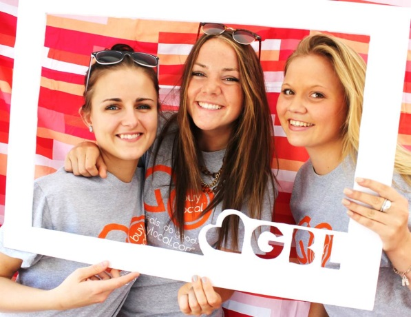 Take pics against the beautiful Downtown MPLS skyline at Go Buy Local's photo booth!
