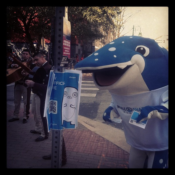 And here's a guy in a shark costume dancing to a mariachi band. You know.  http://instagr.am/p/IFDnFwwdS5/