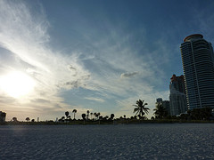 Sunset over Miami Beach
