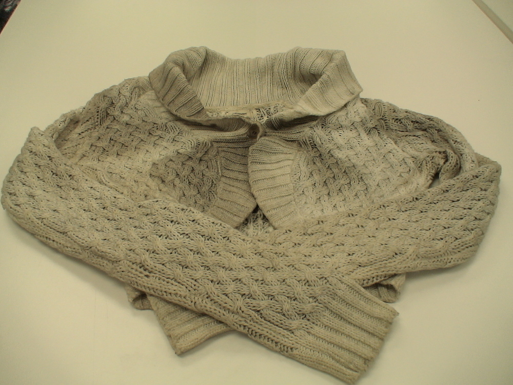 Soot Damaged Sweater - Before