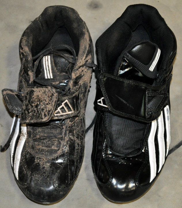Football Cleats - Before and After