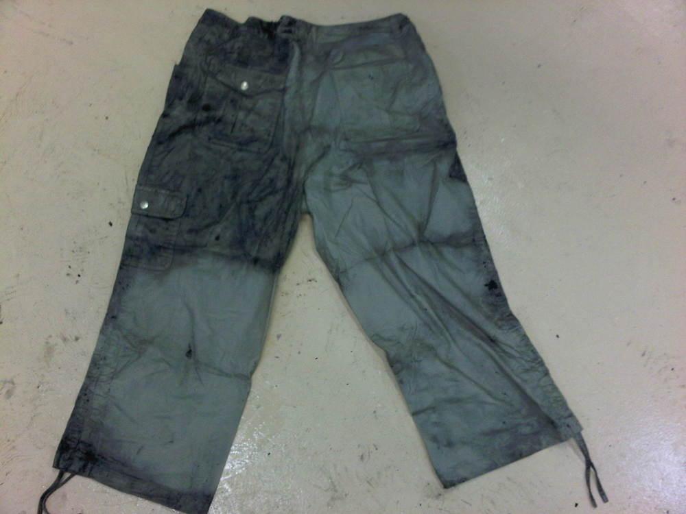 Soot Damaged Khaki Pants - Before