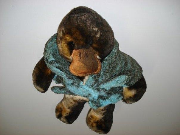 Soot Damaged Stuffed Animal - Before